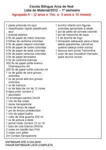 Lista de Materiais Agrupada 2: para imprimir, clique na imagem