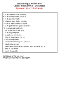 Lista de Materiais Agrupada I e II. Para imprimir, clique na imagem.